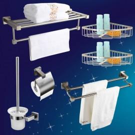 Bộ 6 phụ kiện phòng tắm inox 304 cao cấp Zento HC310